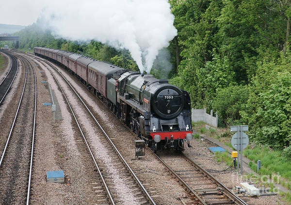 Photograph - 70013 Oliver Cromwell by David Birchall