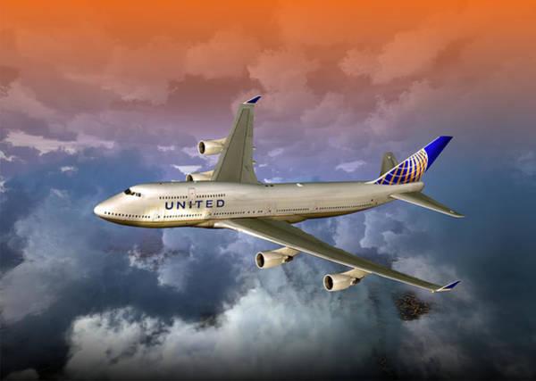 Digital Art - 747-400 Uao 01 by Mike Ray