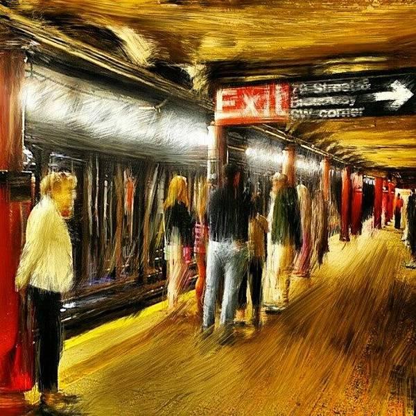 Brush Stroke Wall Art - Photograph - #79 #street #subway #nyc #manhattan by Antonio DeFeo