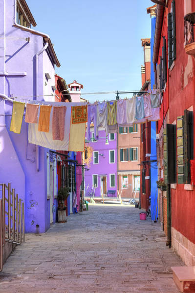 Clothesline Photograph - Burano by Joana Kruse