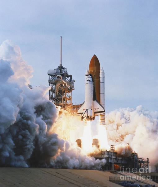 Wall Art - Photograph - Shuttle Lift-off by Science Source