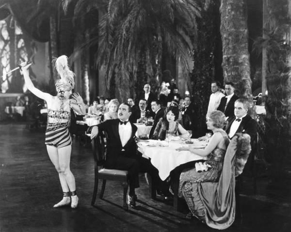 Photograph - Silent Film: Restaurant by Granger