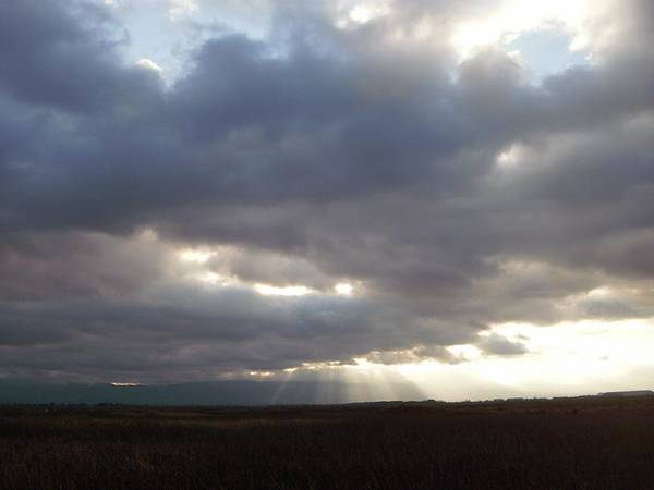 Alviso Photograph - Storm Over Alviso by Edward Wolverton