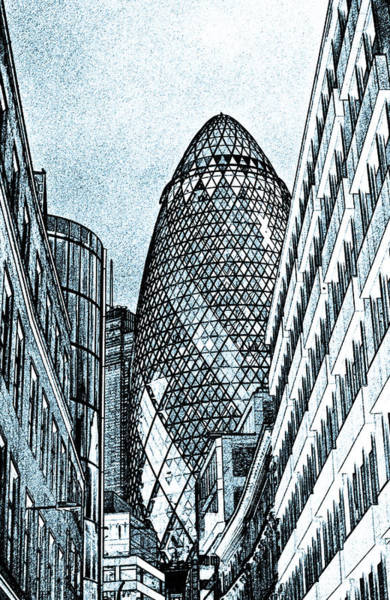 Square Mile Wall Art - Digital Art - The Gherkin London by David Pyatt