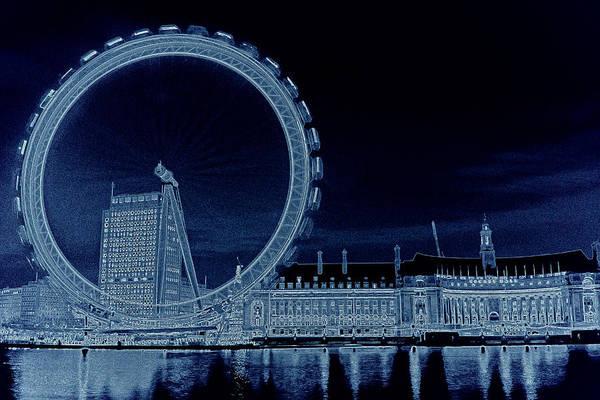 Wall Art - Digital Art - London Eye Art by David Pyatt