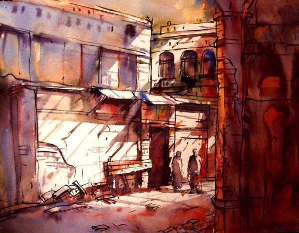 Bangladesh Painting - Old Dhaka by Sadek Ahmed
