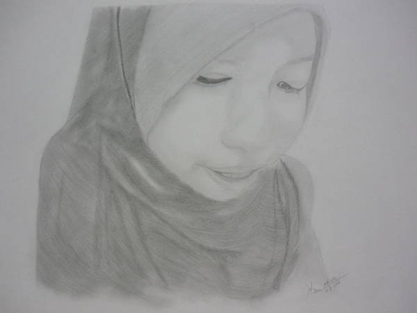 Wall Art - Drawing - Potrait by Hafeez Alfian