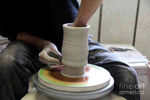 Potters Wheel Wall Art - Photograph - Pottery Wheel, Sequence by Ted Kinsman