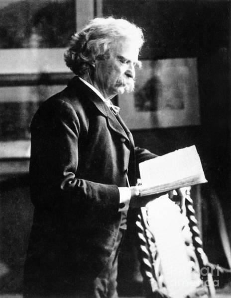 Photograph - Samuel Langhorne Clemens by Granger