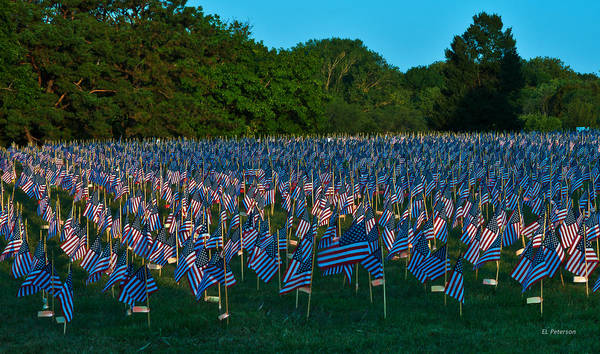 Photograph - 911 Tribute Omaha Ne by Edward Peterson
