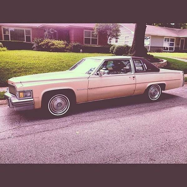 Cadillac Photograph - A 1977 Filter On A 1979 Photo Taken In by Trey Rucker
