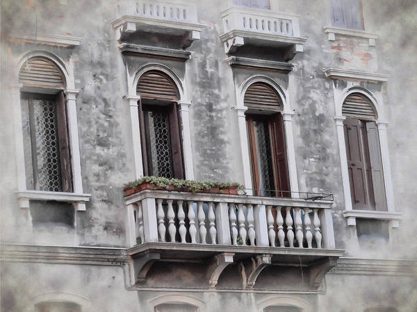 Photograph - A Balcony In Venice by Bill Cannon