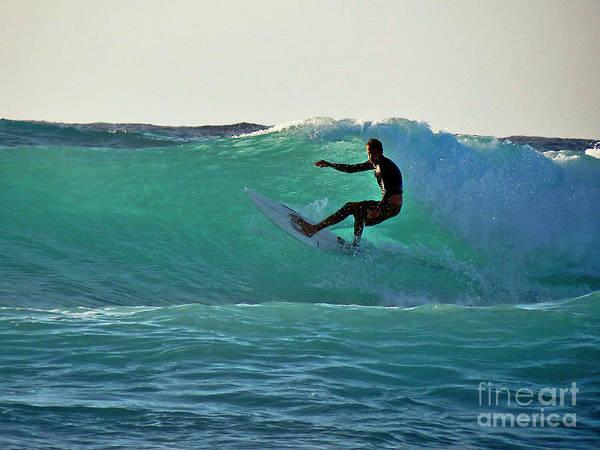 Photograph - A-bay Sunset Surfer by Bette Phelan