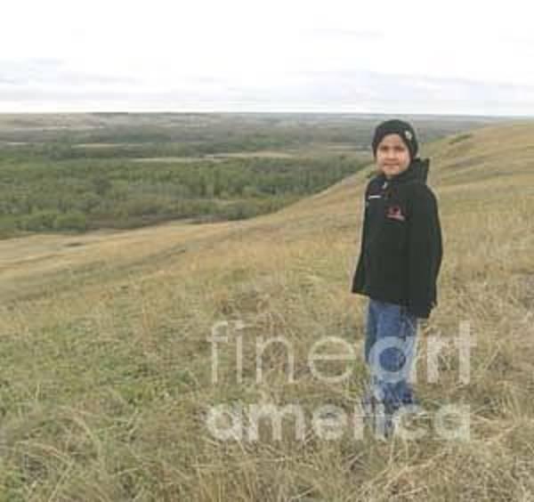 Bob Fisher Photograph - A Blackfoot Boy by Bob Fisher