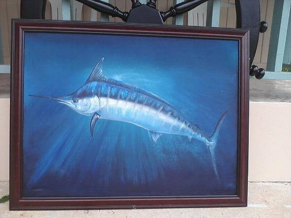 Wall Art - Painting - A Blue Mood.... by Dos Artesanos