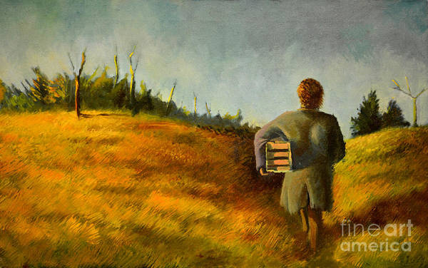 Painting - A Box And Figure by Christopher Shellhammer