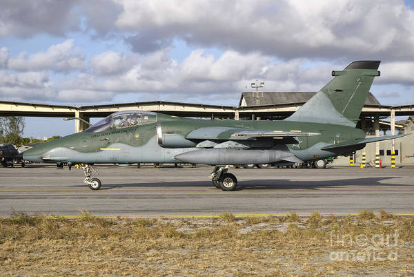 Photograph - A Brazilian Air Force Embraer A-1a by Giovanni Colla