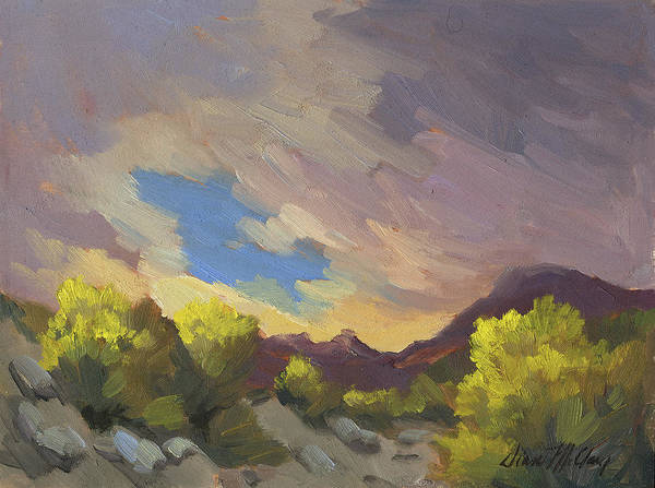 Spring Break Wall Art - Painting - A Break In The Clouds by Diane McClary