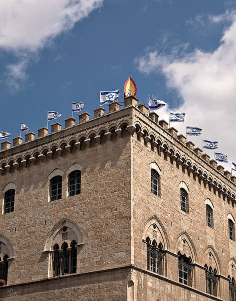 Photograph - A Building With Flags by Endre Balogh