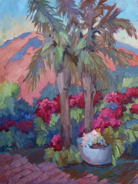 Wall Art - Painting - A Burst Of Red by Diane McClary