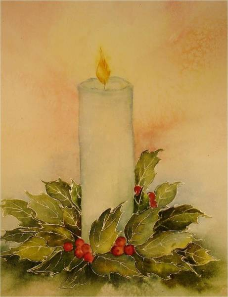 Painting - A Candle For Peace by Pamela Lee