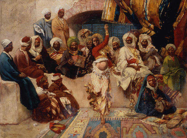 Belly Dancing Painting - A Captive Audience by Charles Auguste Loye