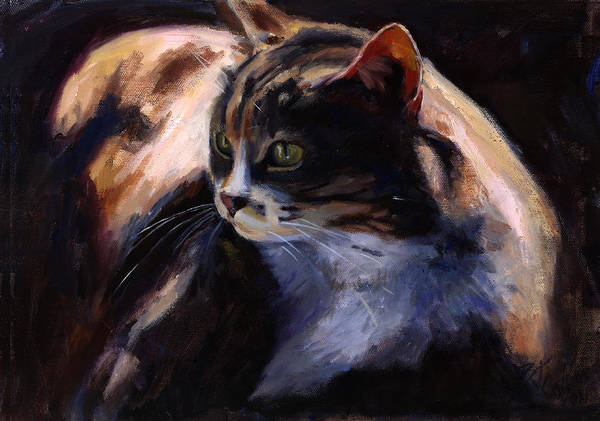 Fat Cat Painting - A Cat's Life by Billie Colson