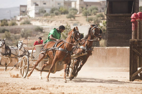 Jerash Photograph - A Chariot Race In The Hippodrome by Taylor S. Kennedy