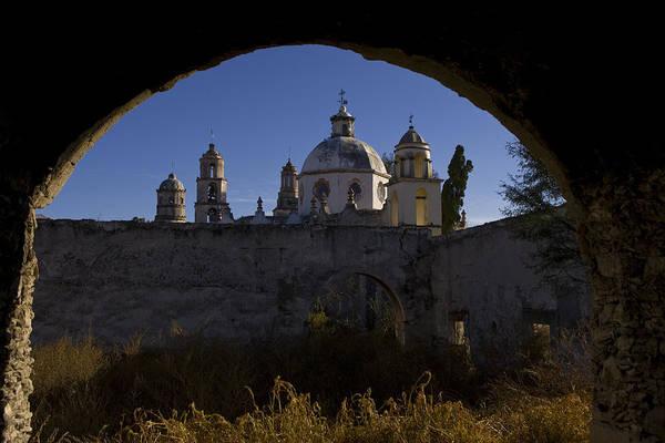 Atotonilco Photograph - A Church Viewed Through An Archway by Ralph Lee Hopkins
