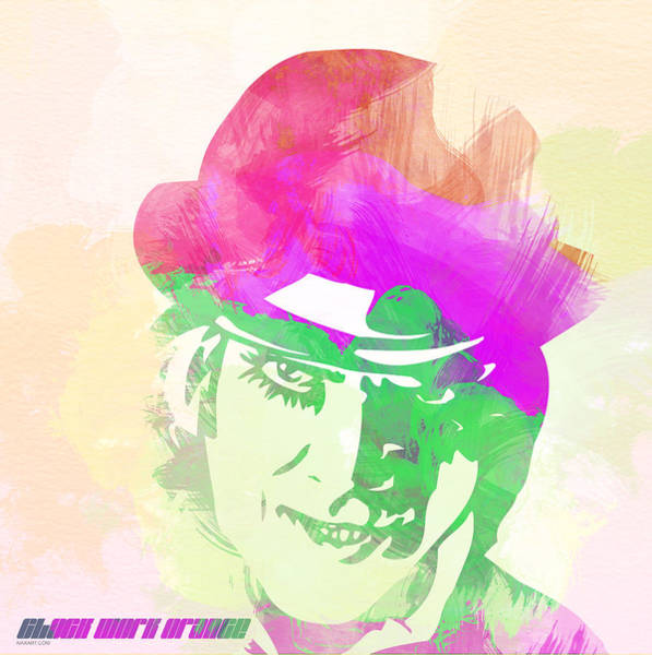 Iconic Digital Art - A Clockwork Orange by Naxart Studio