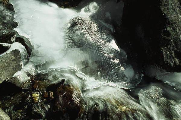 Gokyo Photograph - A Close View Of A Frozen Stream by Gordon Wiltsie