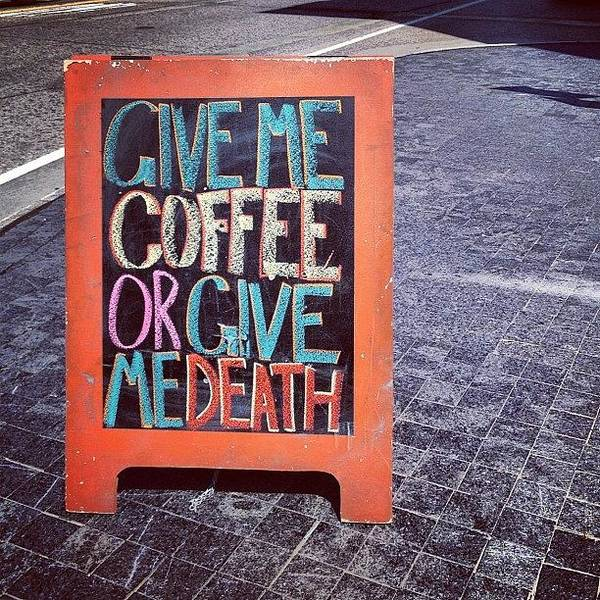 Death Wall Art - Photograph - A Coffee Or Death Situation by Kelly Diamond