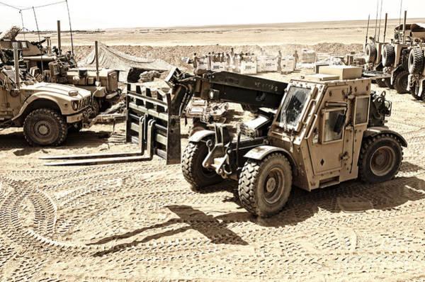 Branding Iron Photograph - A Combat Logistics Battalion by Stocktrek Images