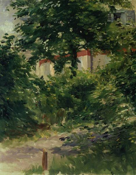 Tall Buildings Painting - A Corner Of The Garden In Rueil by Edouard Manet