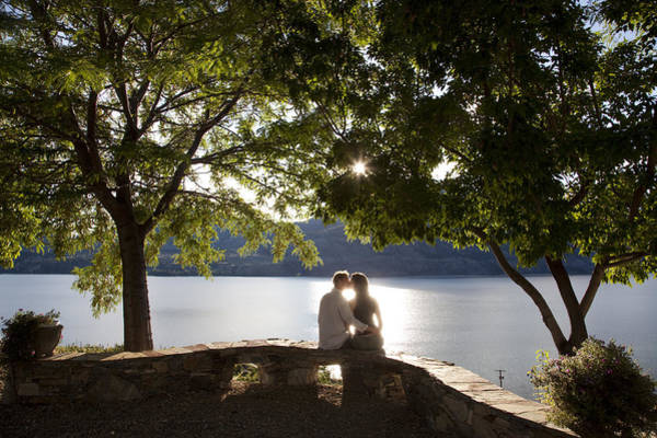 Wall Art - Photograph - A Couple Kisses At An Overlook by Taylor S. Kennedy