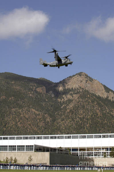 Photograph - A Cv-22 Osprey Flies Over The 2007 by Stocktrek Images