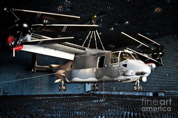 Mv-22 Photograph - A Cv-22 Osprey Hangs In A Anechoic by Stocktrek Images