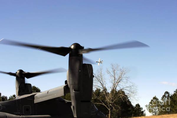 Mv-22 Photograph - A Cv-22 Osprey Prepares To Take by Stocktrek Images