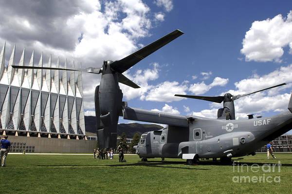 Mv-22 Photograph - A Cv-22 Osprey Sits On Display by Stocktrek Images