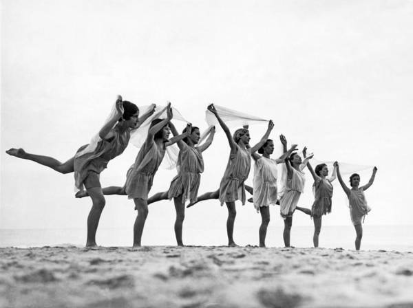 Grecian Photograph - A Dance To The Morning Sun by Underwood Archives