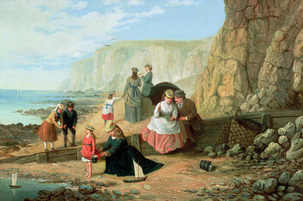 Spade Painting - A Day At The Seaside by William Scott
