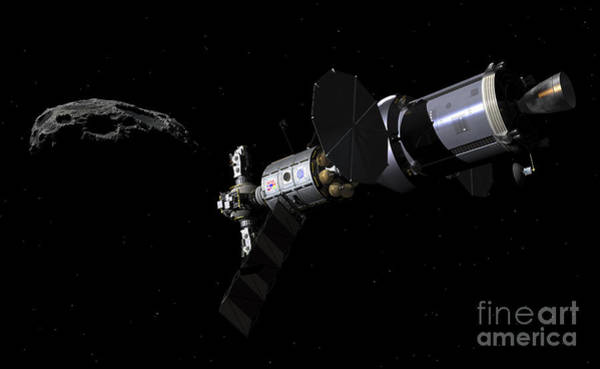 Orion Digital Art - A Deep Space Mission Vehicle by Walter Myers