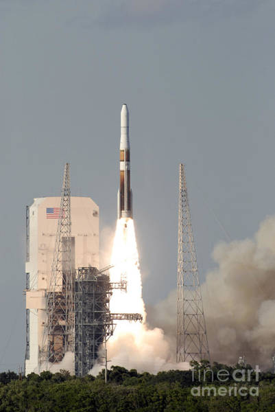 Delta Iv Photograph - A Delta Iv Rocket Lfits by Stocktrek Images