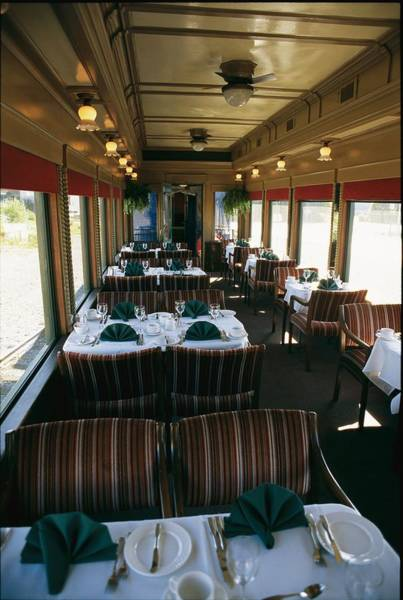 Wall Art - Photograph - A Dining Car Aboard The Royal Hudson by Michael S. Lewis