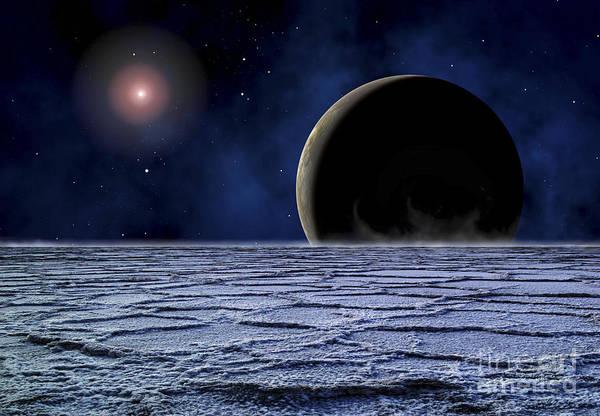 Fading Digital Art - A Distant Star Illuminates An by Frank Hettick