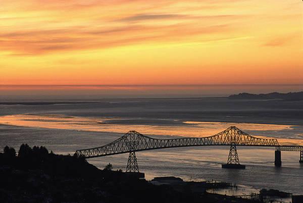 Astoria Bridge Photograph - A Distant View by Phil Schermeister