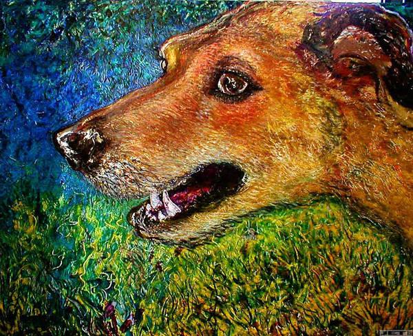 Inking Painting - A Dog's Life Timmy by J E T I I I