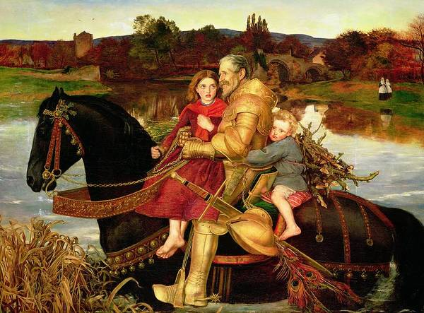 Everett Painting - A Dream Of The Past by Sir John Everett Millais