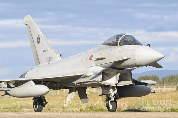 Airbase Photograph - A Eurofighter 2000 Typhoon by Giovanni Colla