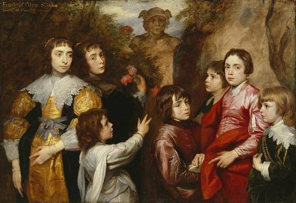 Brothers Painting - A Family Group by Sir Anthony van  Dyck